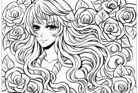 Printable Anime Coloring Pages - Manga Anime Coloring Pages for Adults Printable