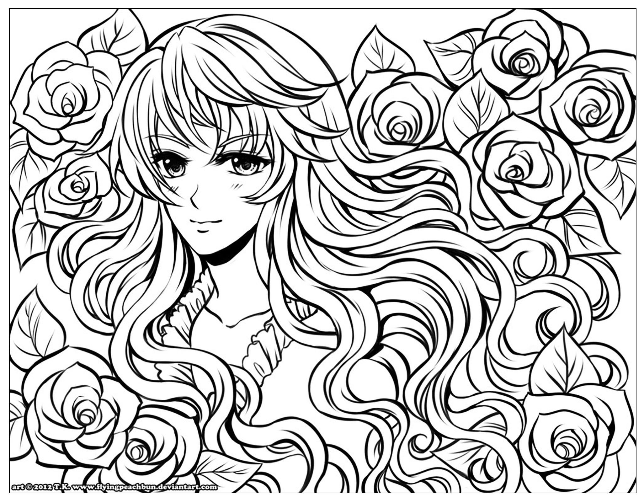 Manga Anime Coloring Pages for Adults Printable Of Free Coloring Pages Printable New Kilari and Seiji Anime Coloring Printable