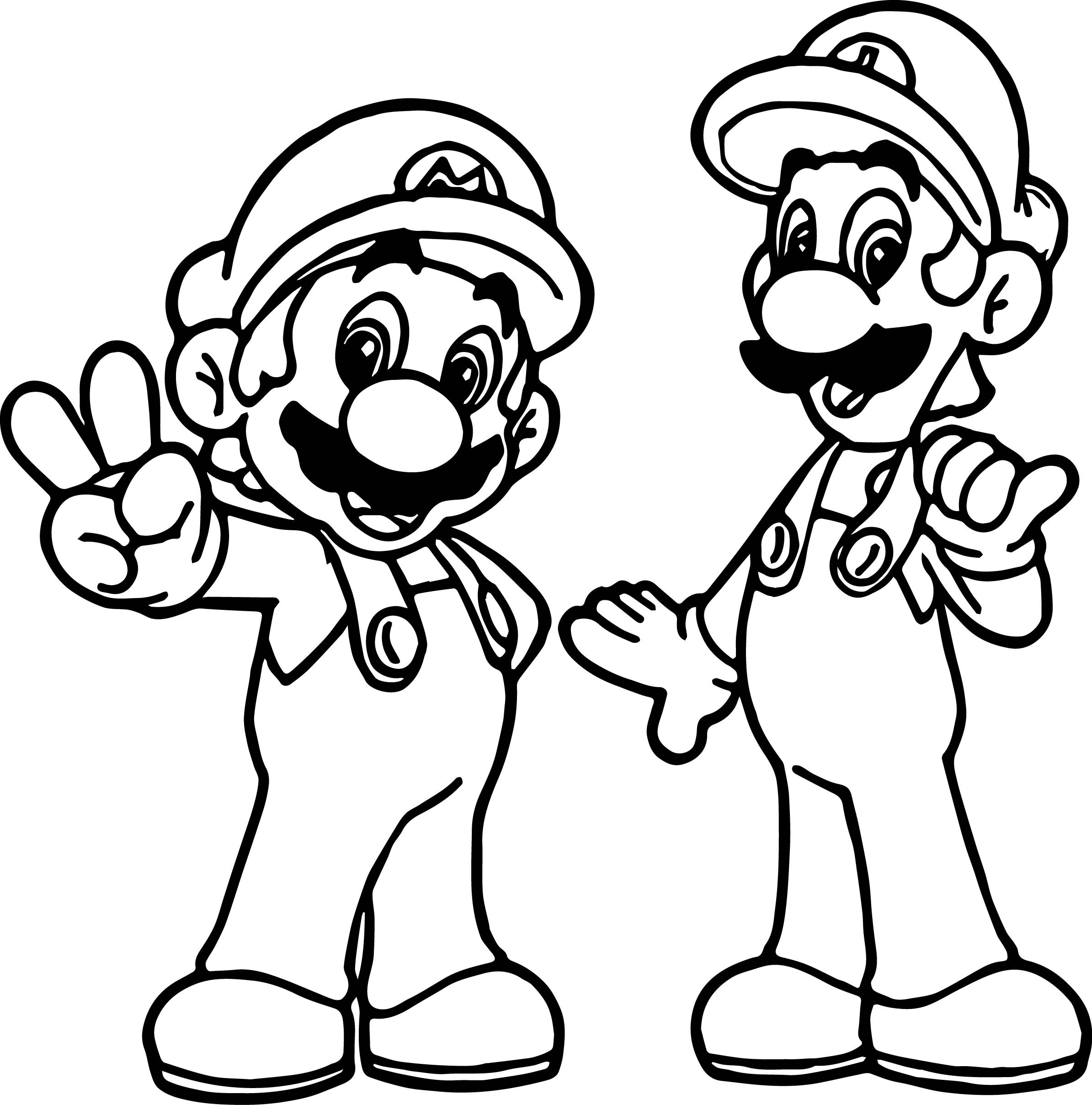 Mario and Luigi Coloring Pages Collection Of Toad Mario Drawing at Getdrawings Gallery