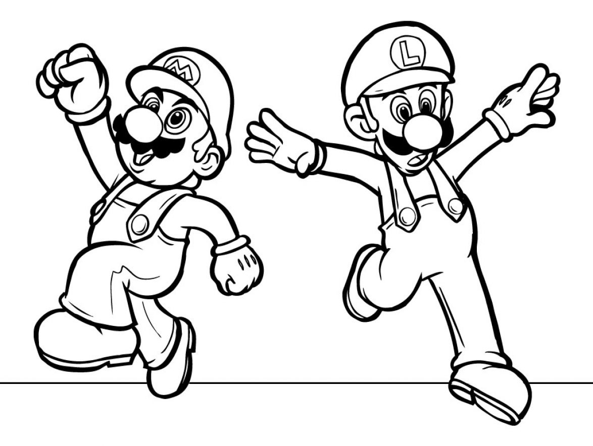 Mario Printable Pages Gallery Of Super Mario Bros Coloring Pages to Print