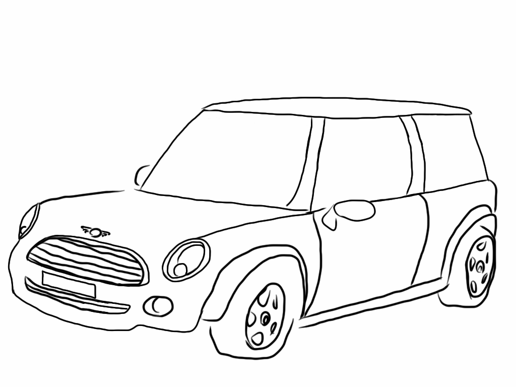 mini cooper coloring pages collection