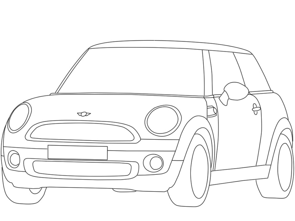 Mini Cooper Coloring Pages Collection 2b - Free For Children