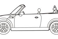 Mini Cooper Coloring Pages - Mini Cooper Convertible Coloring Page to Print