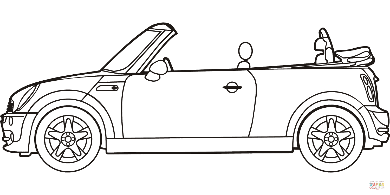 Mini Cooper Coloring Pages Collection 5s - To print for your project