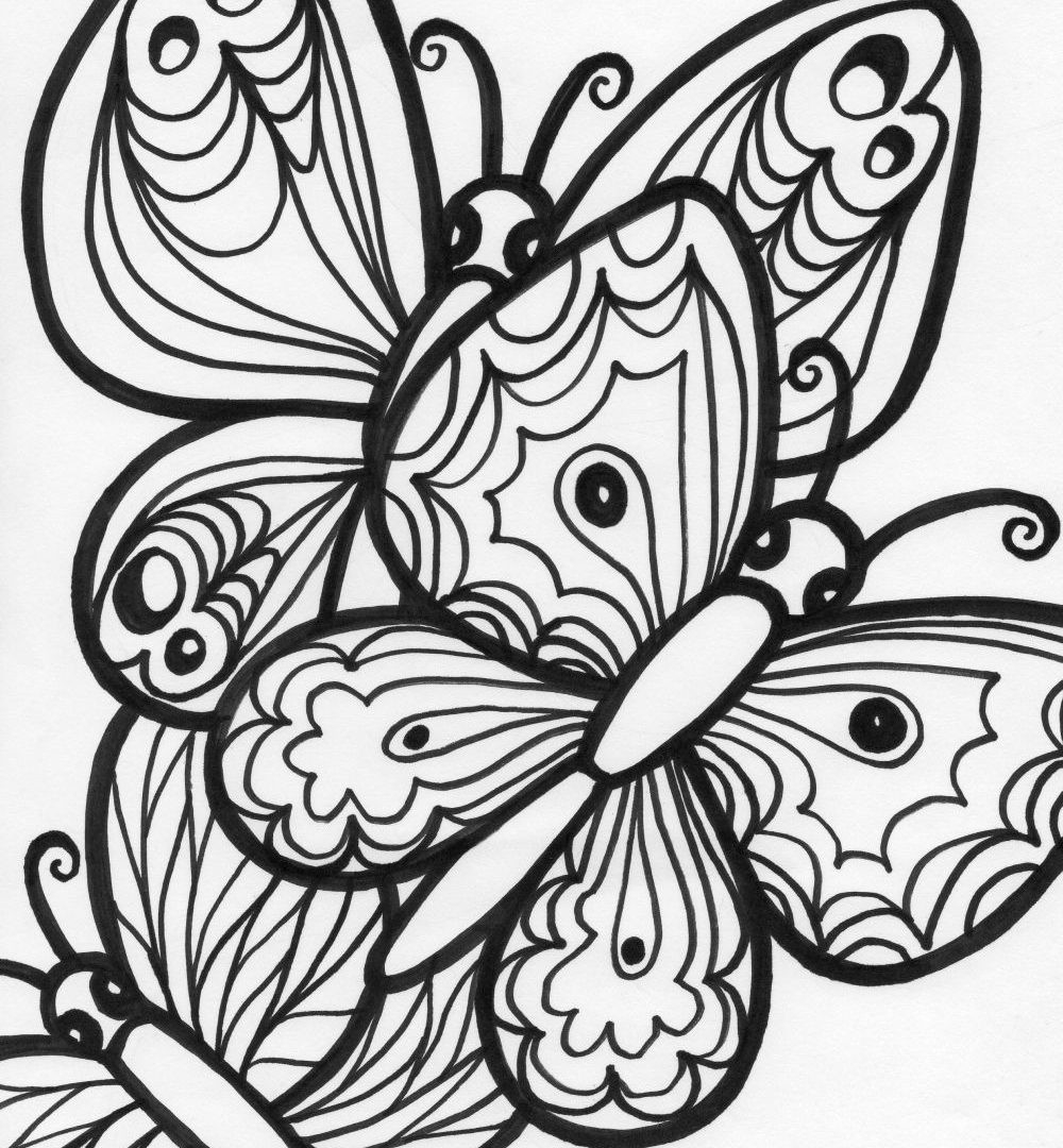 Monarch butterfly Coloring Pages Inspirational Awesome butterfly Printable Of Detailed Coloring Pages for Adults Collection