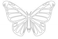 Monarch butterfly Coloring Pages - Monarch butterfly Line Drawing Monarch butterfly Coloring Page Gallery