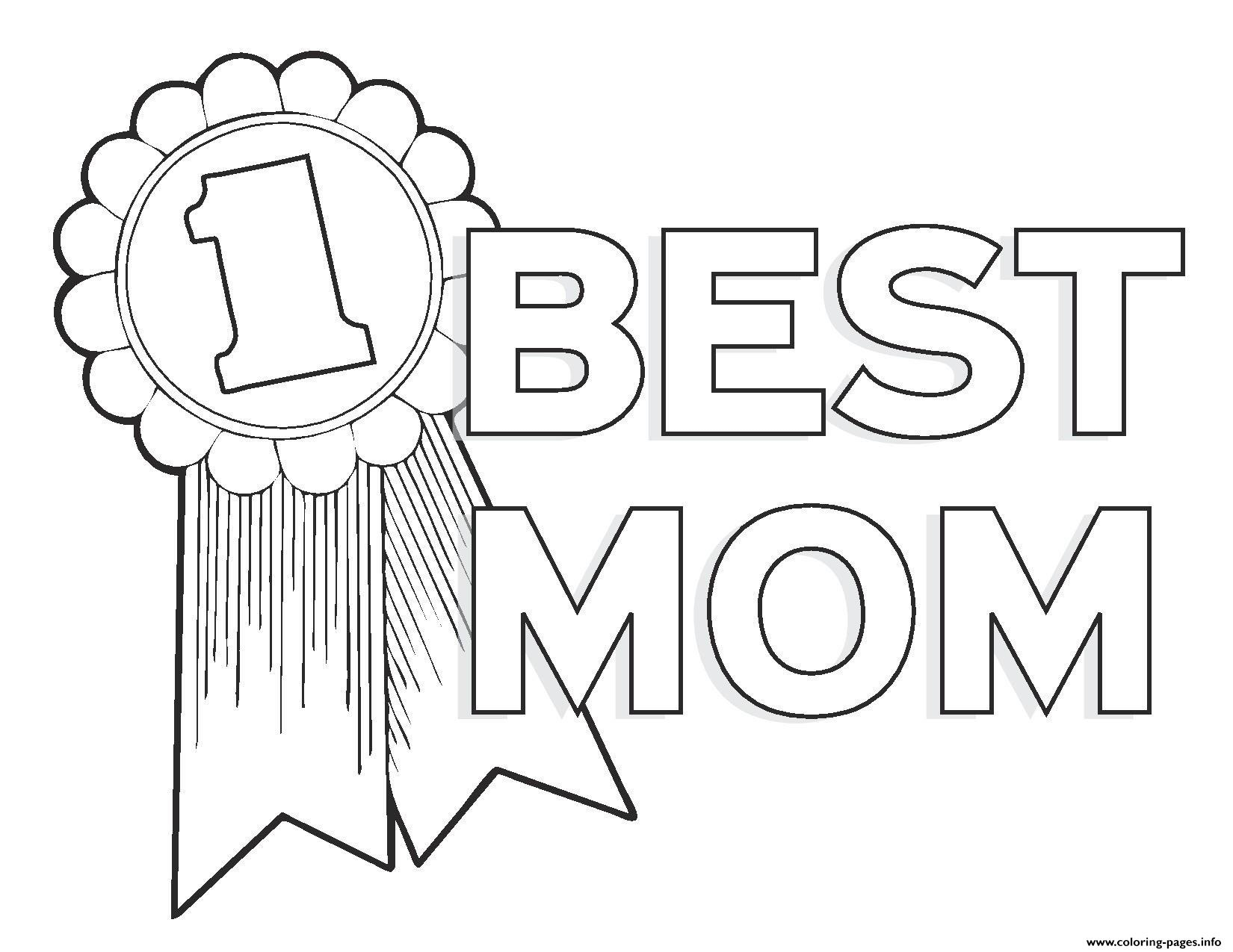 Mother Coloring Pages Sheet Boy Version Oei Am 1 Mom for Kids Number to Print Of Happy Birthday Mom Printable Coloring Pages Printable