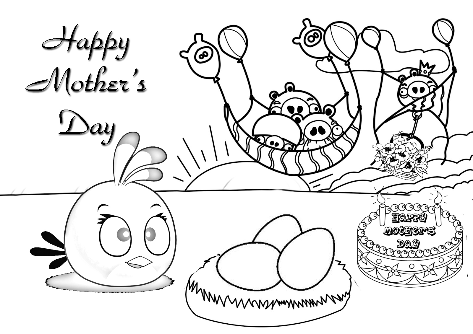 Mother S Day Printable Coloring Sheets Worksheets For All Gallery Of Pages