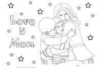 Mothers Day Coloring Pages Kids - Mothers Day Coloring Page In I Love My Mommy Pages Coloring Pages Download
