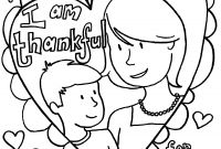 Mothers Day Coloring Pages Kids - Mothers Day Coloring Pages Kids Happy Valentines with Mother In Download