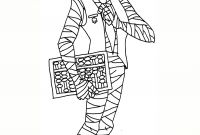 Mummy Coloring Pages - Mr Mummy Coloring Page to Print