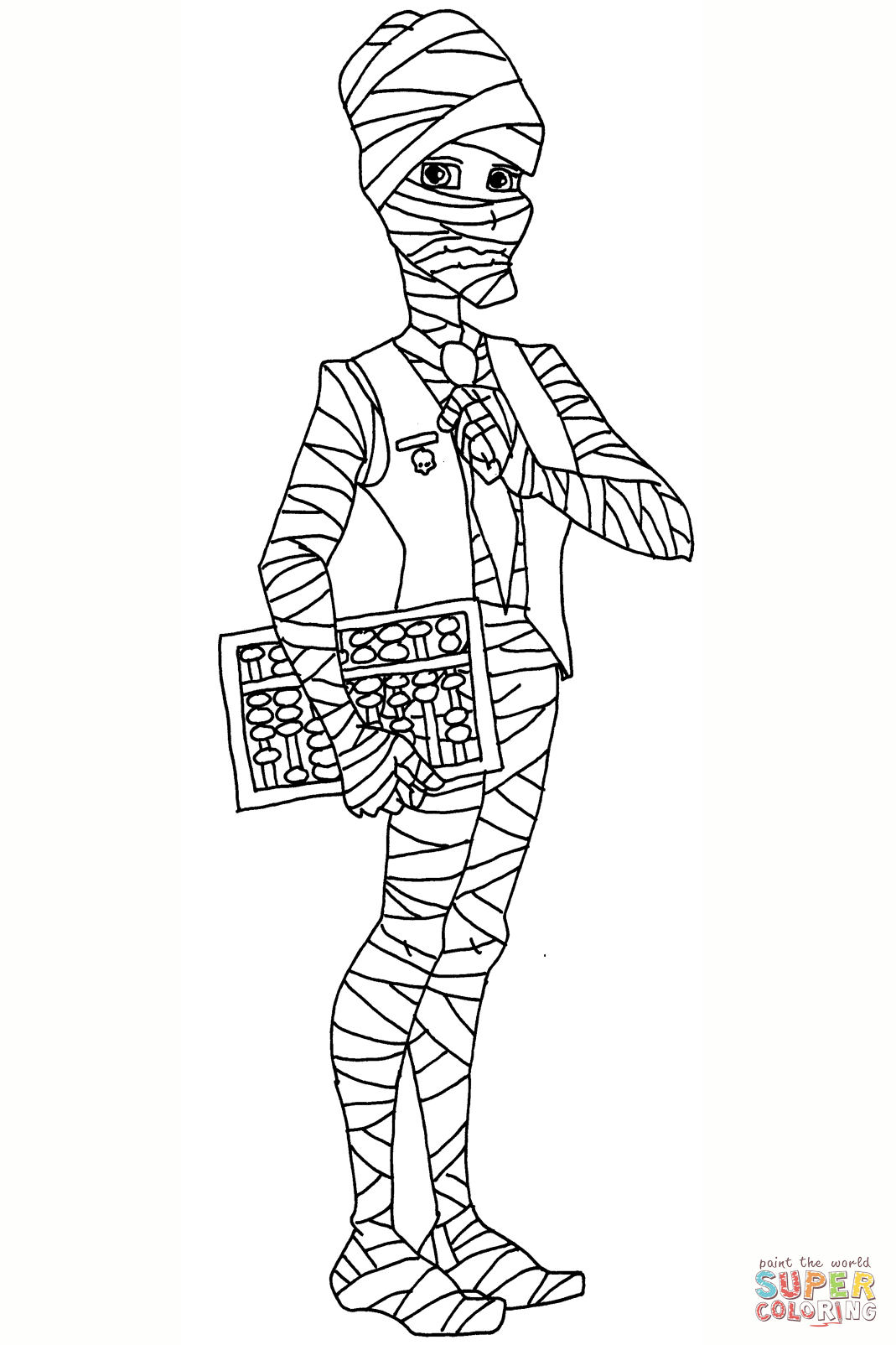 Mr Mummy Coloring Page to Print Free Coloring Sheets