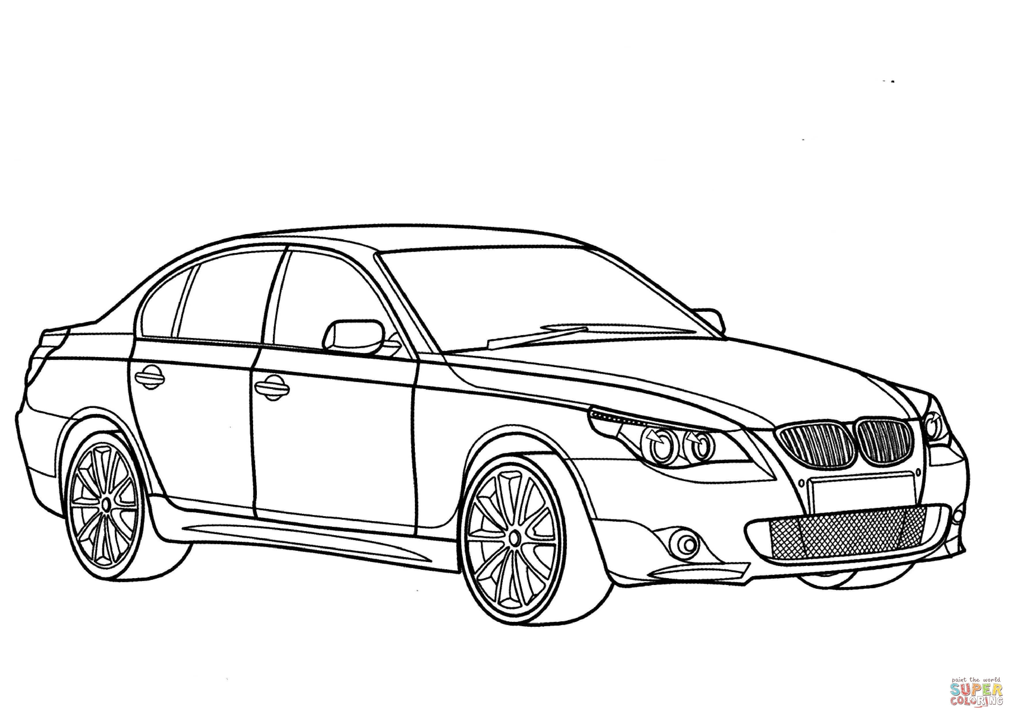 New Bmw Series 3 Coloring Pages Gallery Printable Of Car Perspective Page