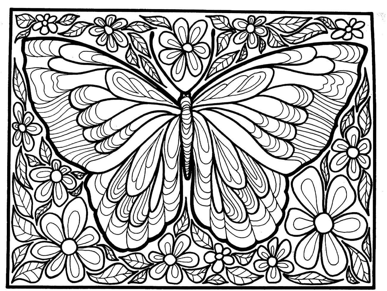 New butterfly Mandala Coloring Pages Printable Gallery Gallery Of Modern Intricate Mandala Coloring Pages Coloring for Good Mandala to Print