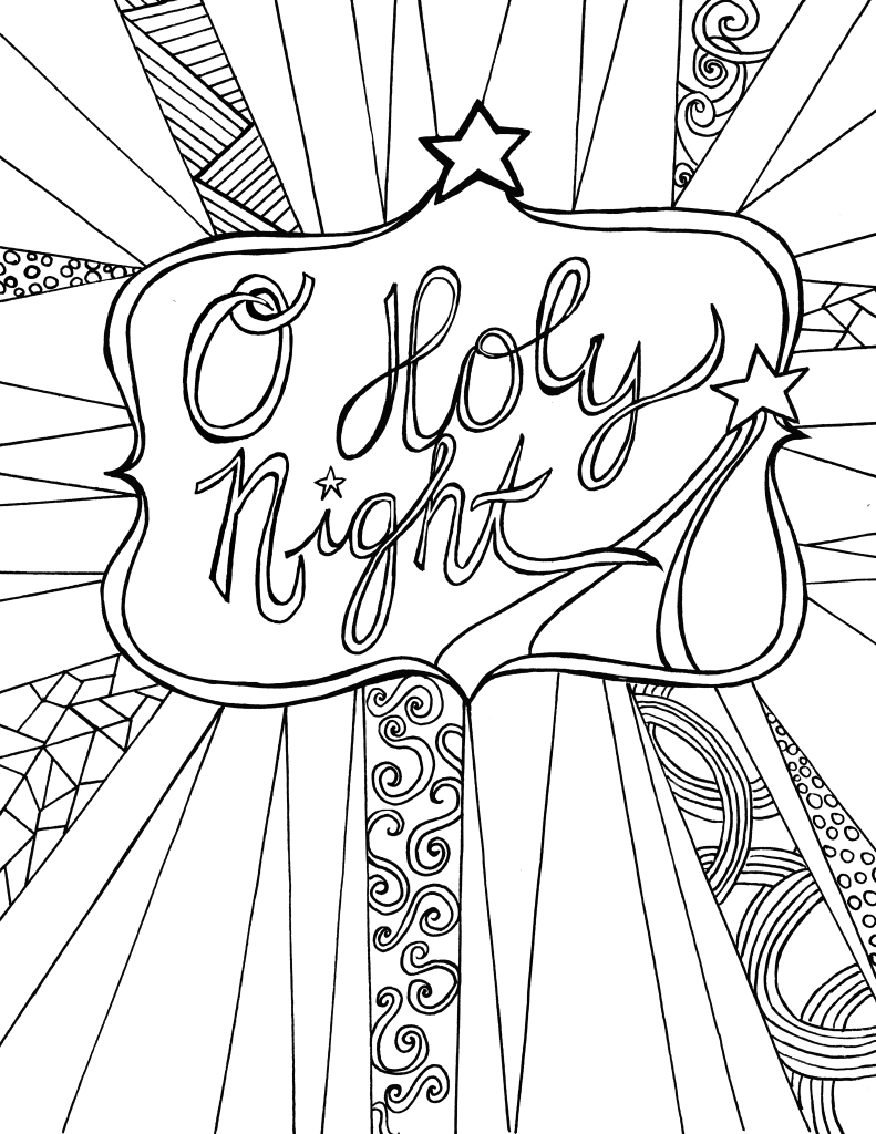 free christmas coloring sheets for adults - Heart.impulsar.co