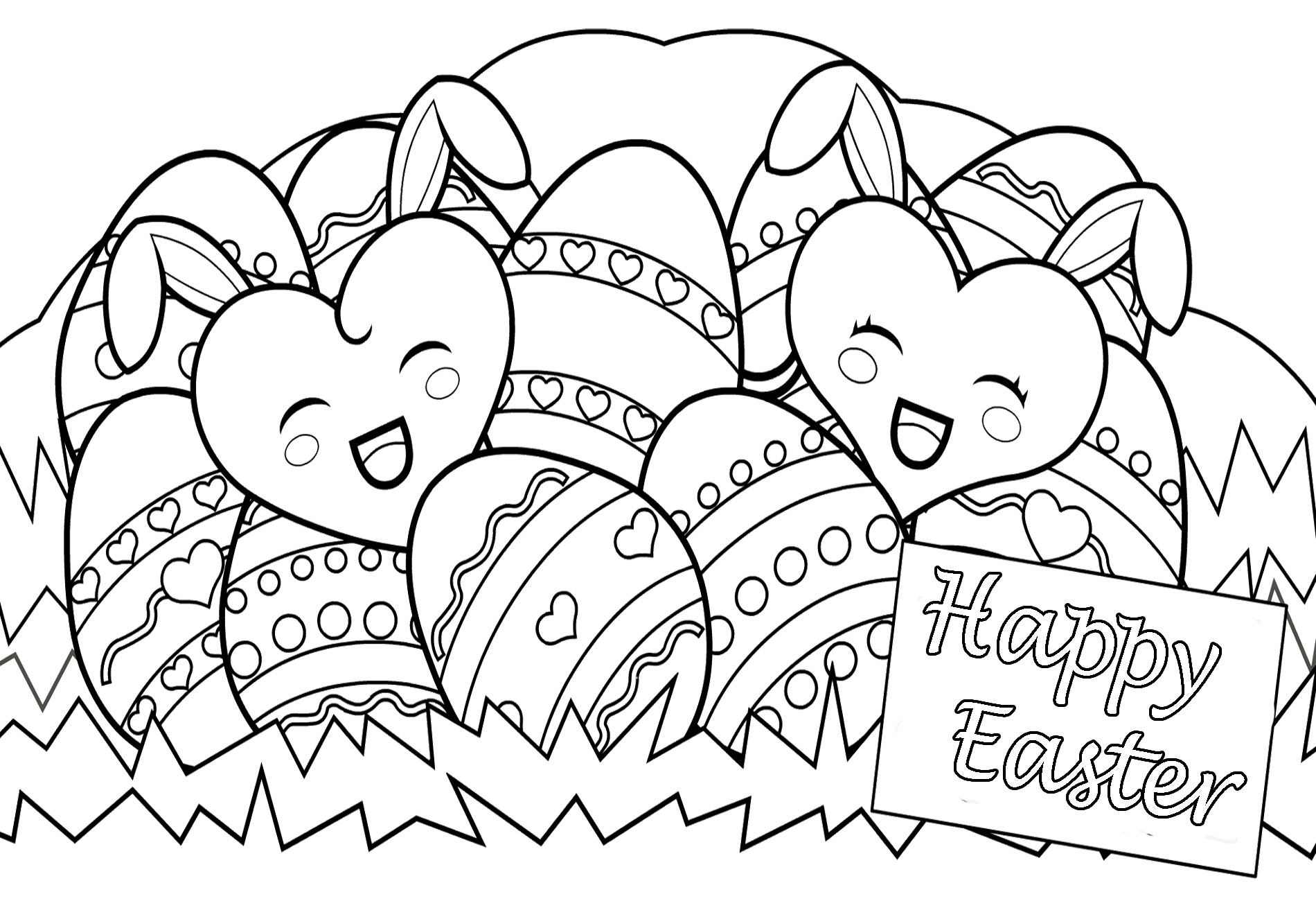 New Free Printable Easter Coloring Pages Printable Coloring Page Gallery Of Easter Egg Designs Coloring Pages to Print