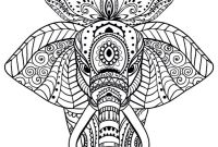 Elephant Mandala Coloring Pages - New Mandala Coloring Pages Halloween Outstanding 970—970 Elephant to Print
