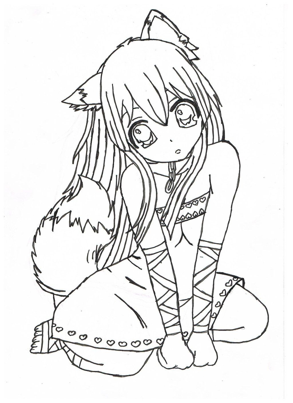 Printable Anime Coloring Pages Printable 17a - Free For Children