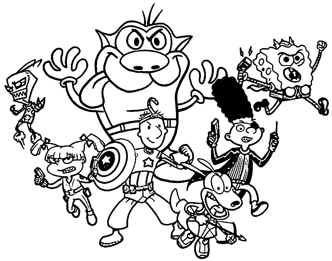 Nickelodeon Coloring Pages Nickelodeon Coloring Pages for Nicktoons Collection Of Nickalodeon Coloring Pages to Print