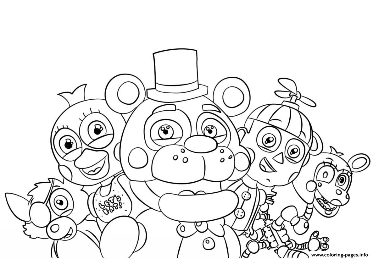 Fnaf Printable Coloring Pages to Print 20p - Free Download