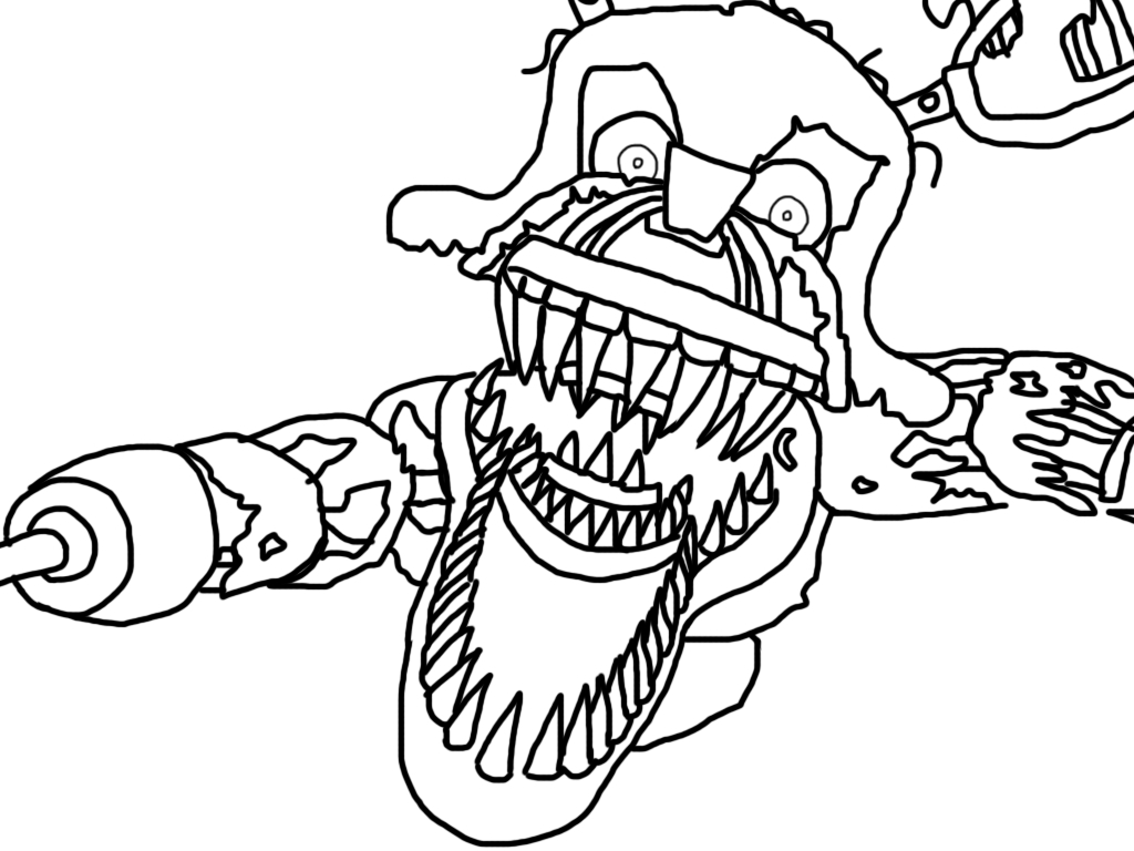 It's just a photo of Gratifying fnaf foxy coloring pages