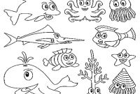 Animals Coloring Pages to Print - Ocean Animals Coloring Pages to Print