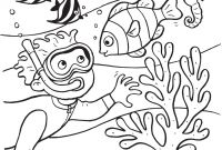 Sea World Coloring Pages - Ocean Scene Drawing at Getdrawings Printable