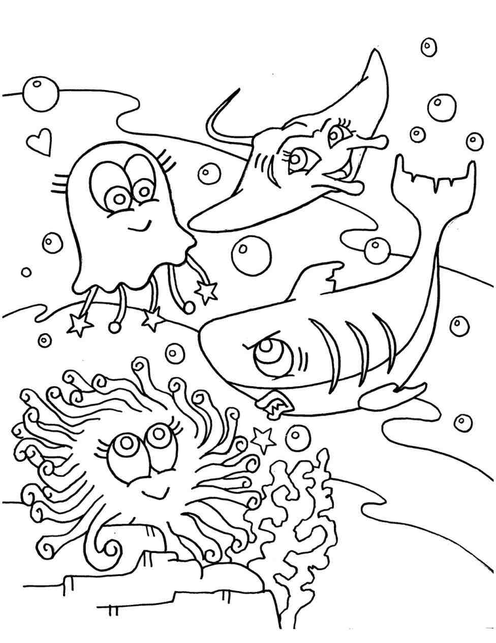 Sea World Coloring Pages Collection 12n - Free Download
