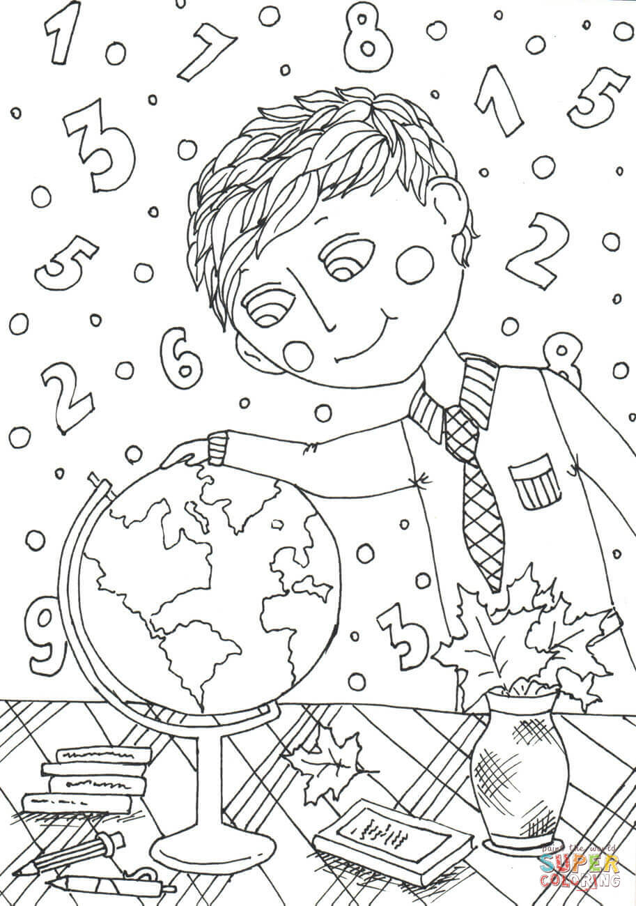 September Coloring Pages to Print - Peter Boy In September Coloring Page Printable