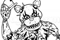 Fnaf Printable Coloring Pages - Print Draw Nightmare Freddy Fazbear Five Nights at Freddys Fnaf Gallery