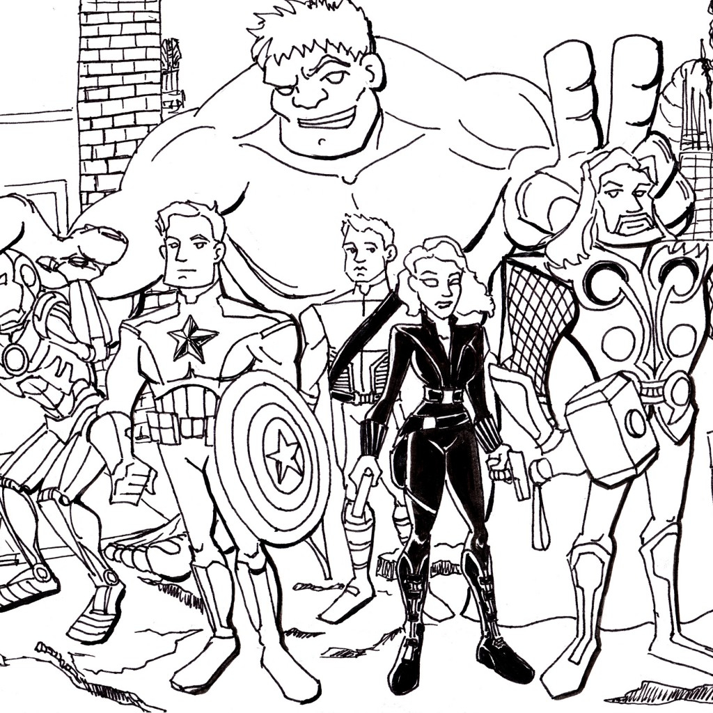 Printable Avengers Coloring Pages to Print 1g - Save it to your computer