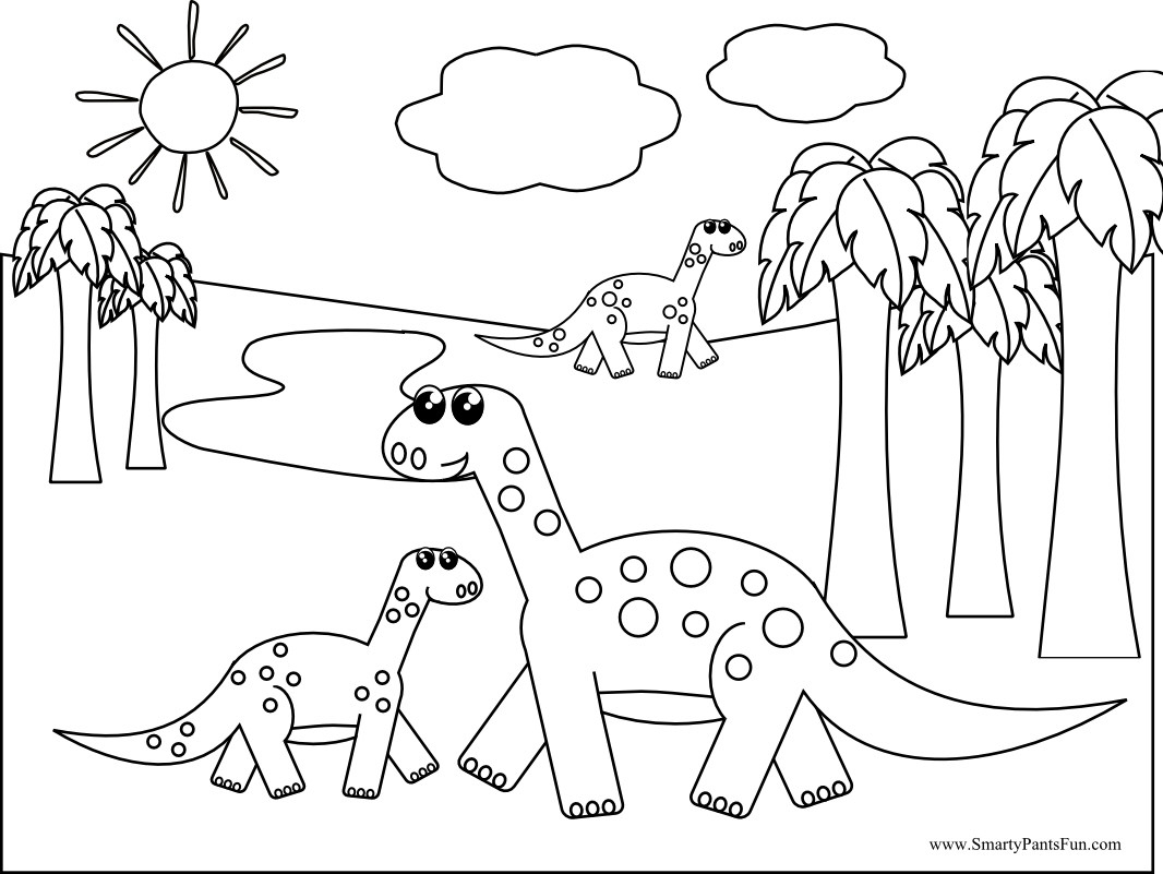 Printable Dinosaur Coloring Pages Free Bloodbrothers Me Fine To Print Of Idealstalist