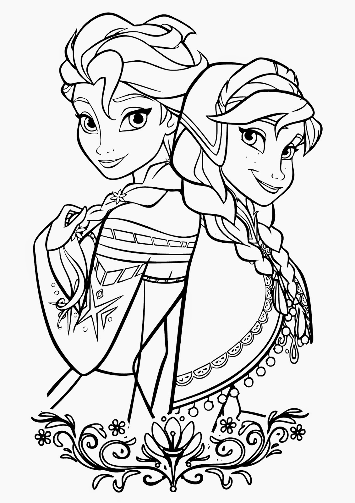 Free Coloring Pages Of Frozen Collection 5r - Free Download