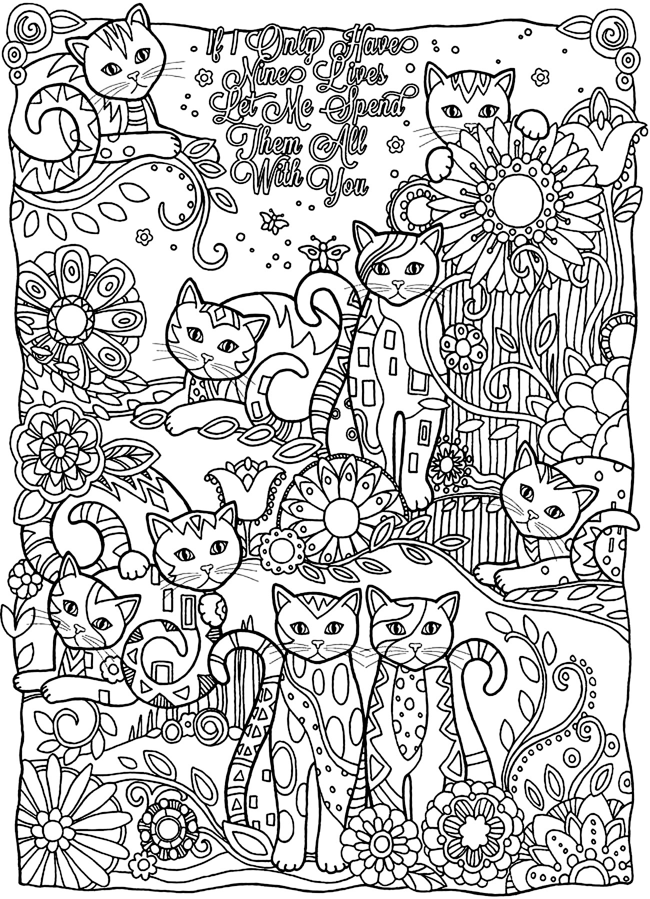 Printable Extremely Hard Coloring Pages for Adults – Color Bros to Print Of Stress Relief Coloring Pages Animals Funny Coloring Pages Printable