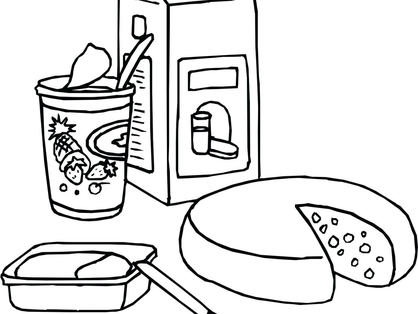 Yogurt Coloring Pages To Print