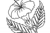 Coloring Pages Hawaiian Flowers - Printable Hibiscus Coloring Pages for Kids Arresting Hawaiian Flower Download