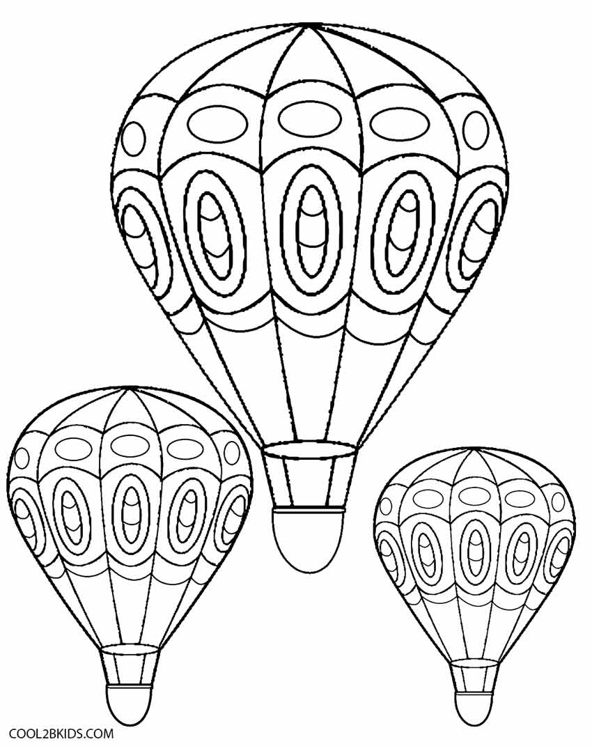 Hot Air Balloon Coloring Pages - Printable Hot Air Balloon Coloring Pages for Kids Download