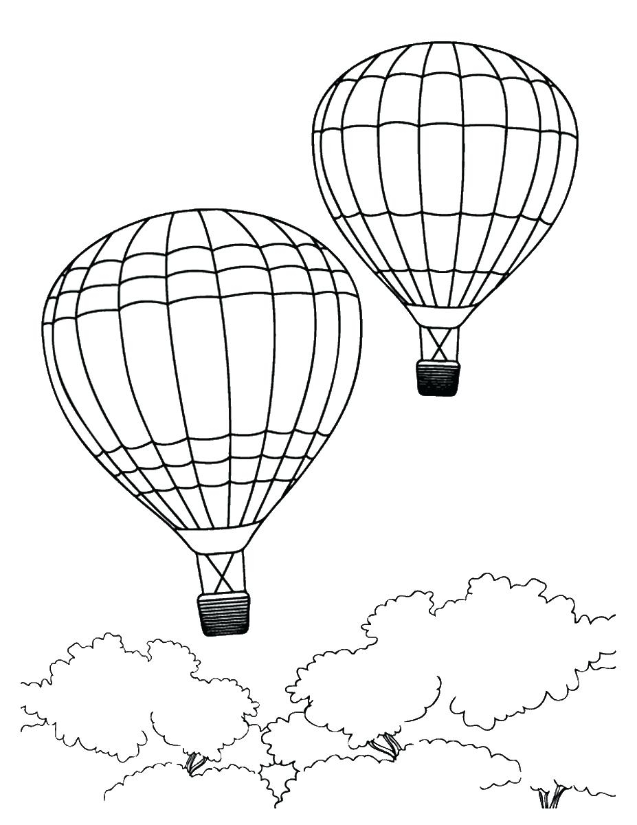 Printable Hot Air Balloon Coloring Pages Printable Of Hot Air Balloon Coloring Page Collection