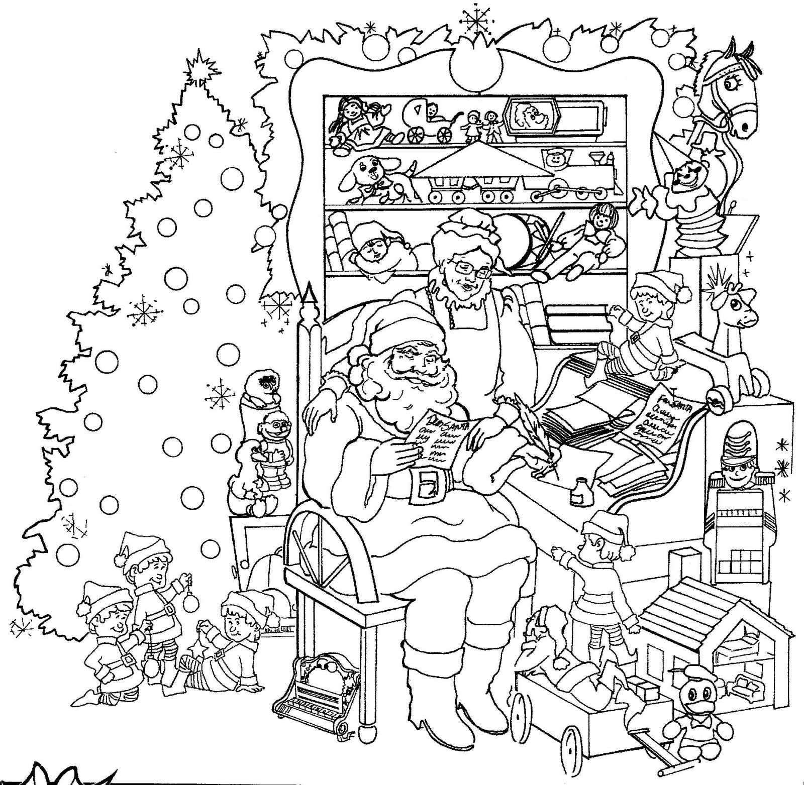 Free Printable Christmas Coloring Pages Coloring Pages for Kids to ...