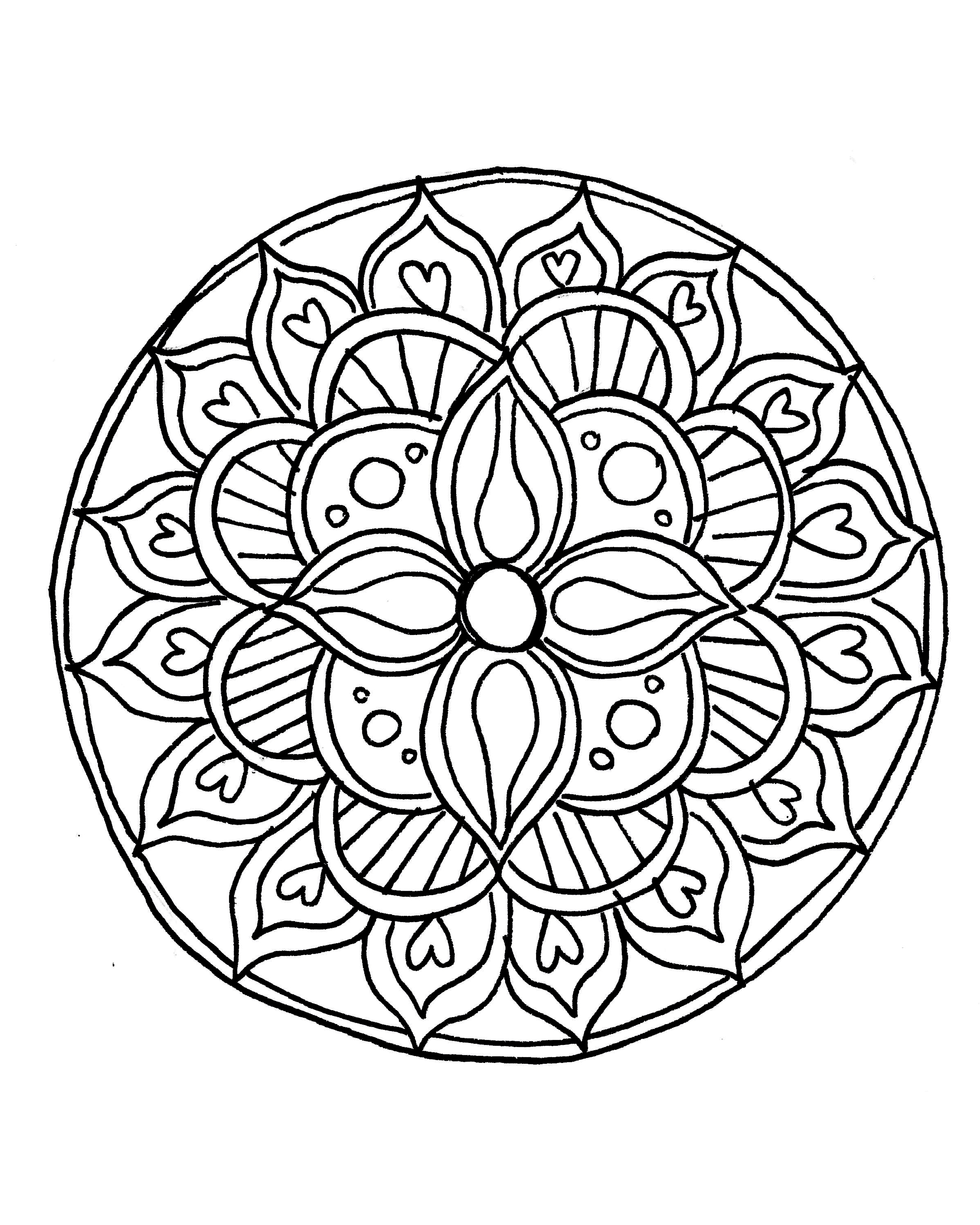 Printable Mandala Coloring Pages For Kids Free Books Of Animal