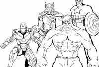 Printable Avengers Coloring Pages - Printable Superhero Coloring Pages Childlife Download