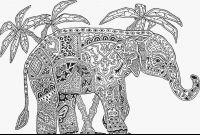 Elephant Mandala Coloring Pages - Printable Wonderful Adult Mandala Coloring Pages Animals with to Print