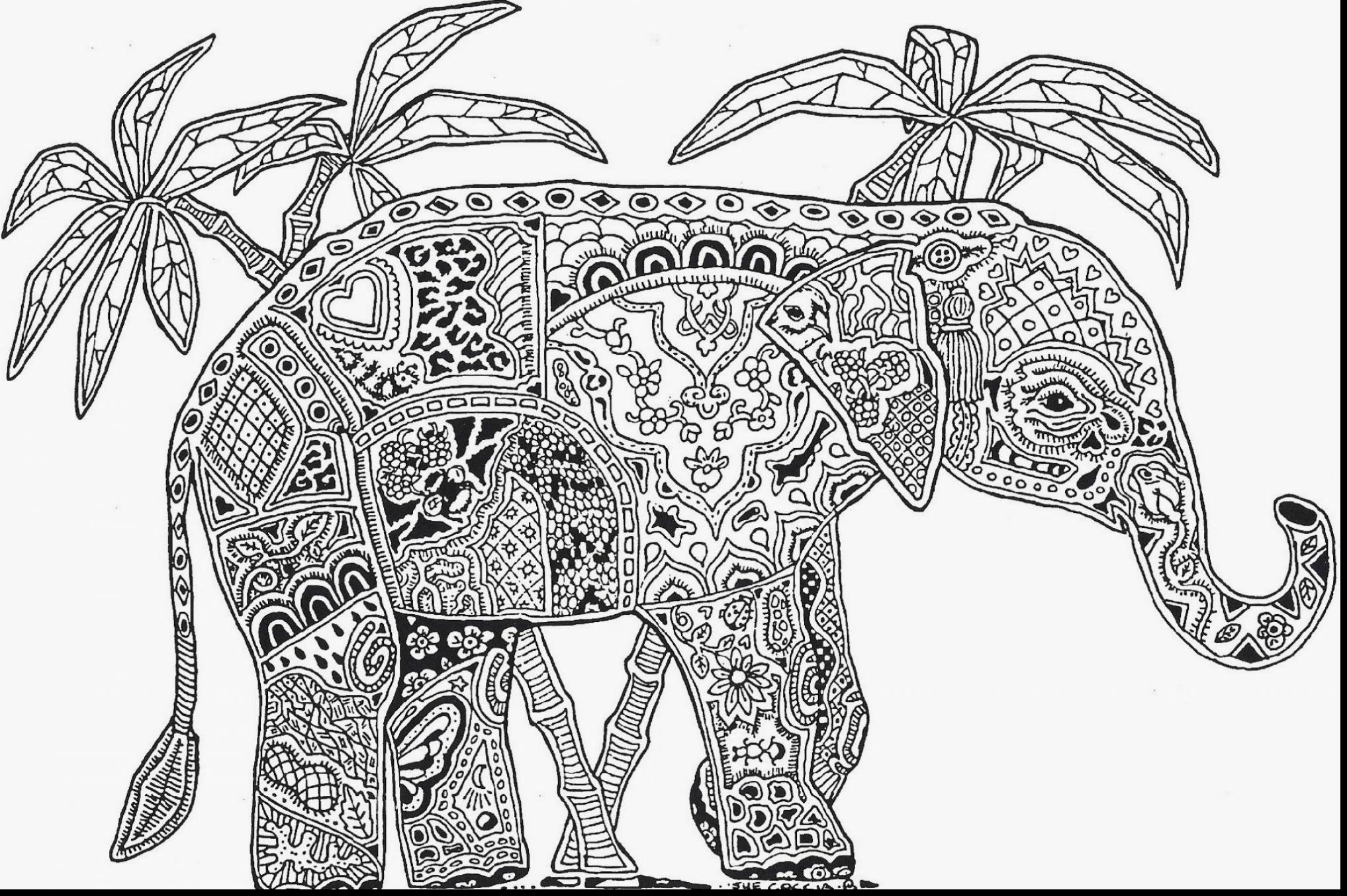 Elephant Mandala Coloring Pages Collection | Free Coloring ...