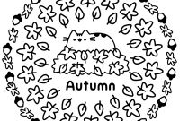 Autumn Coloring Pages Printable - Pusheen Autumn Coloring Pages Printable Gallery