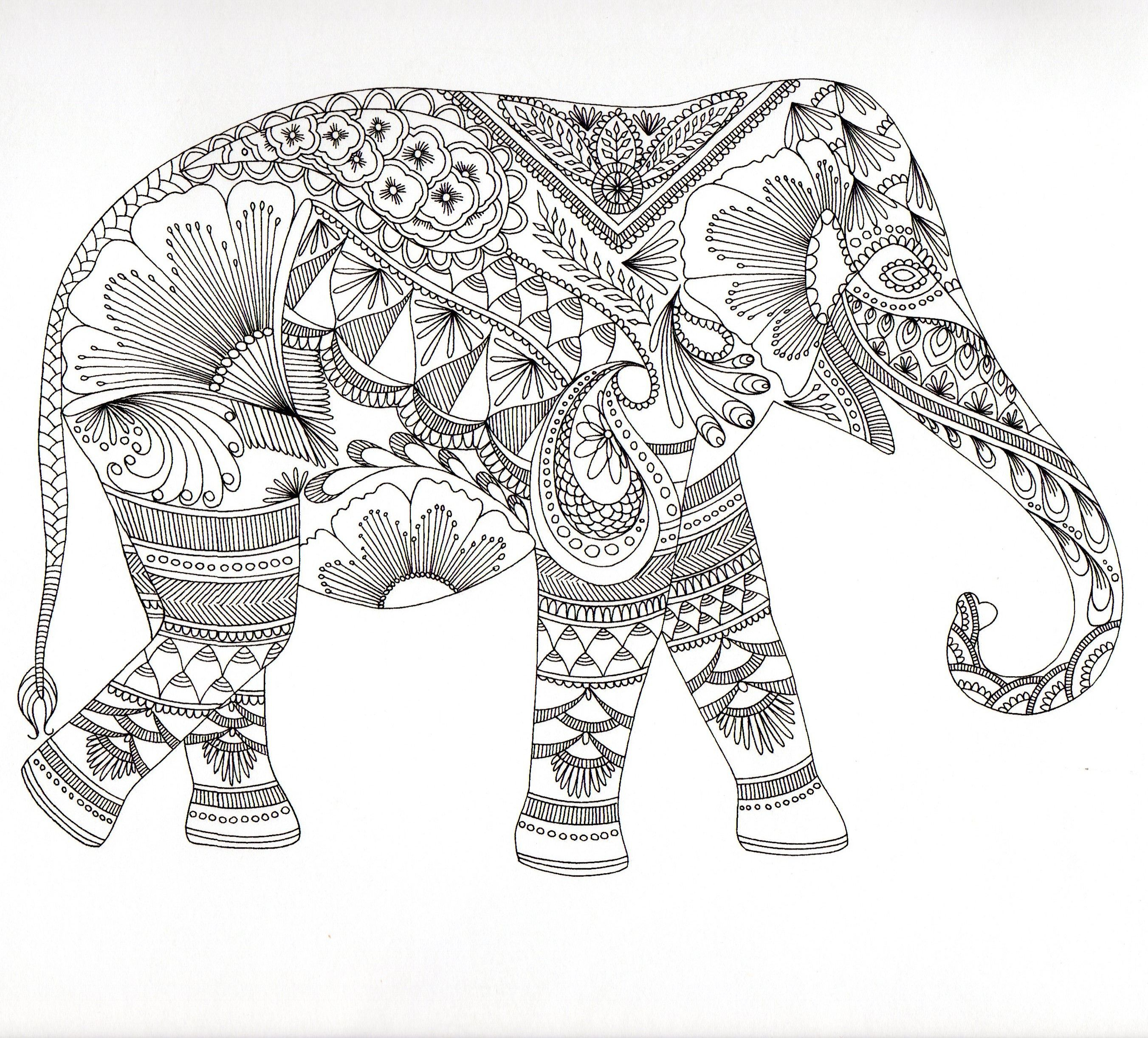 Elephant Mandala Coloring Pages Collection 20l - Free Download