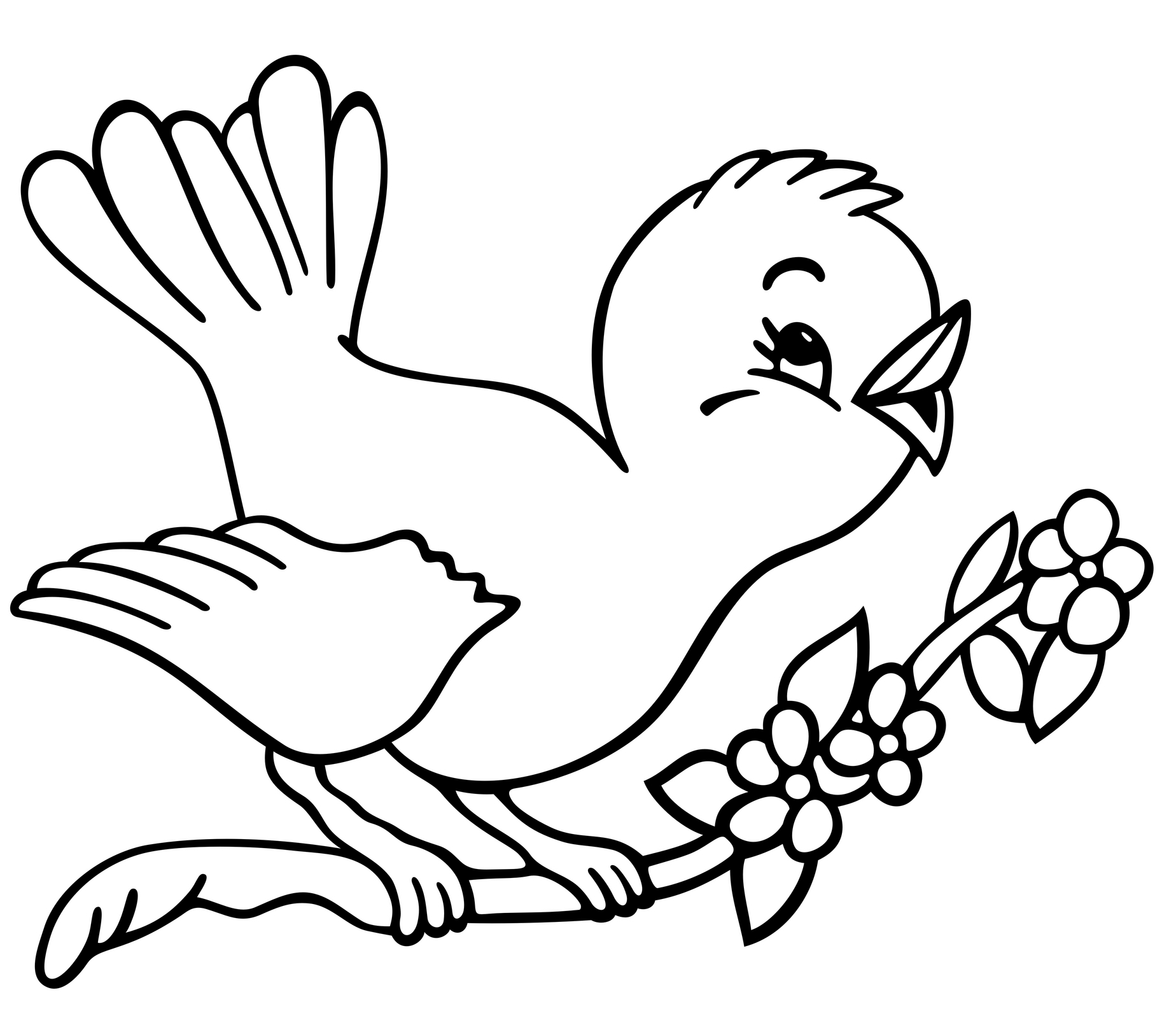 Coloring Pages Birds Collection 15c - Save it to your computer