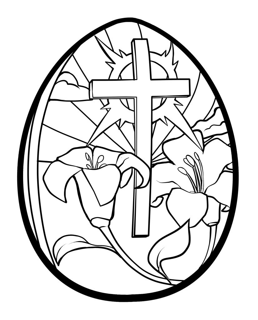 Religious Easter Coloring Pages Coloring Pages Collection Of Easter Egg Designs Coloring Pages to Print