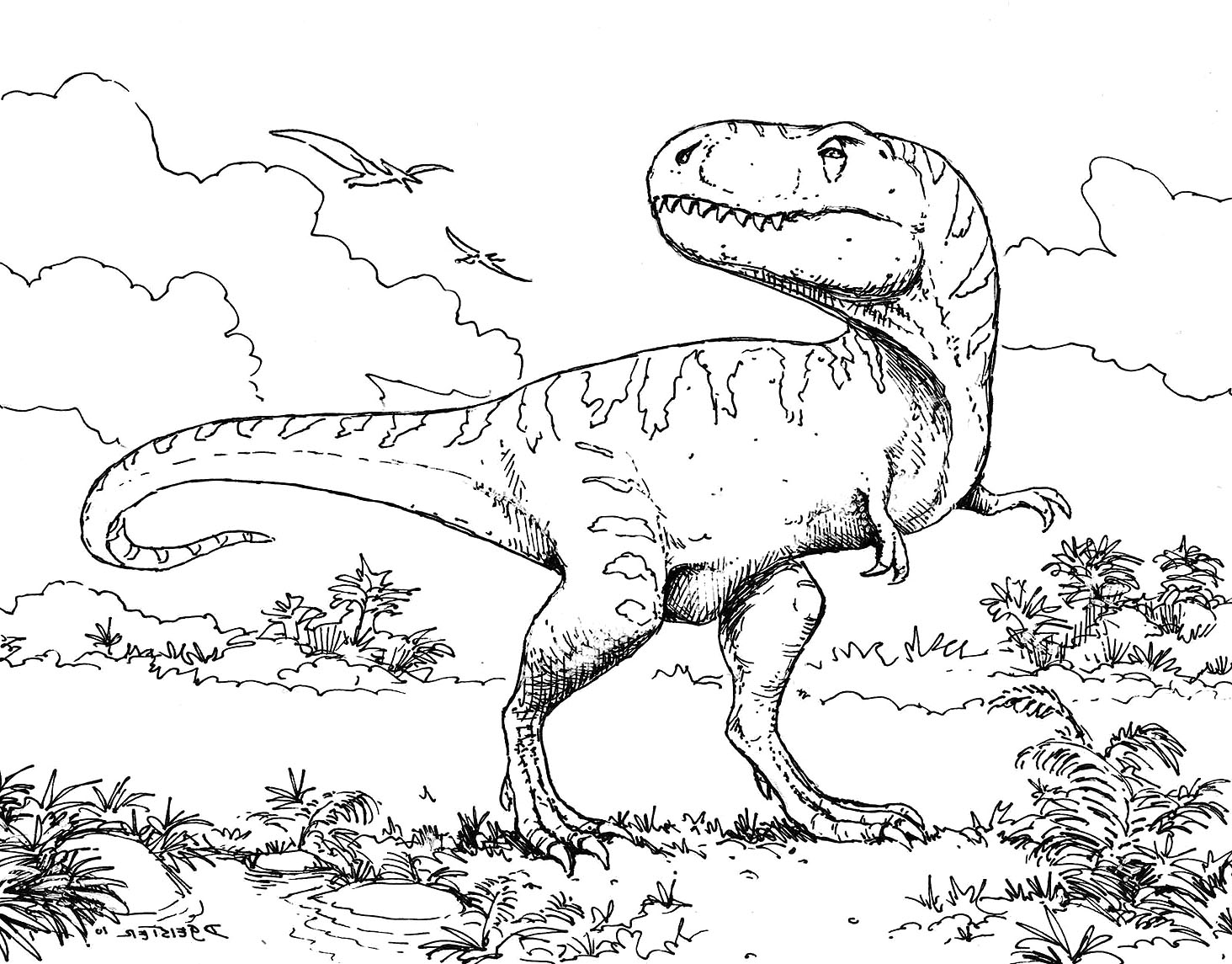 Revisited Colouring Dinosaurs Dino Unknown Collection Of Dinosaur Clipart Coloring Page Triceratop Pencil and In Color Gallery