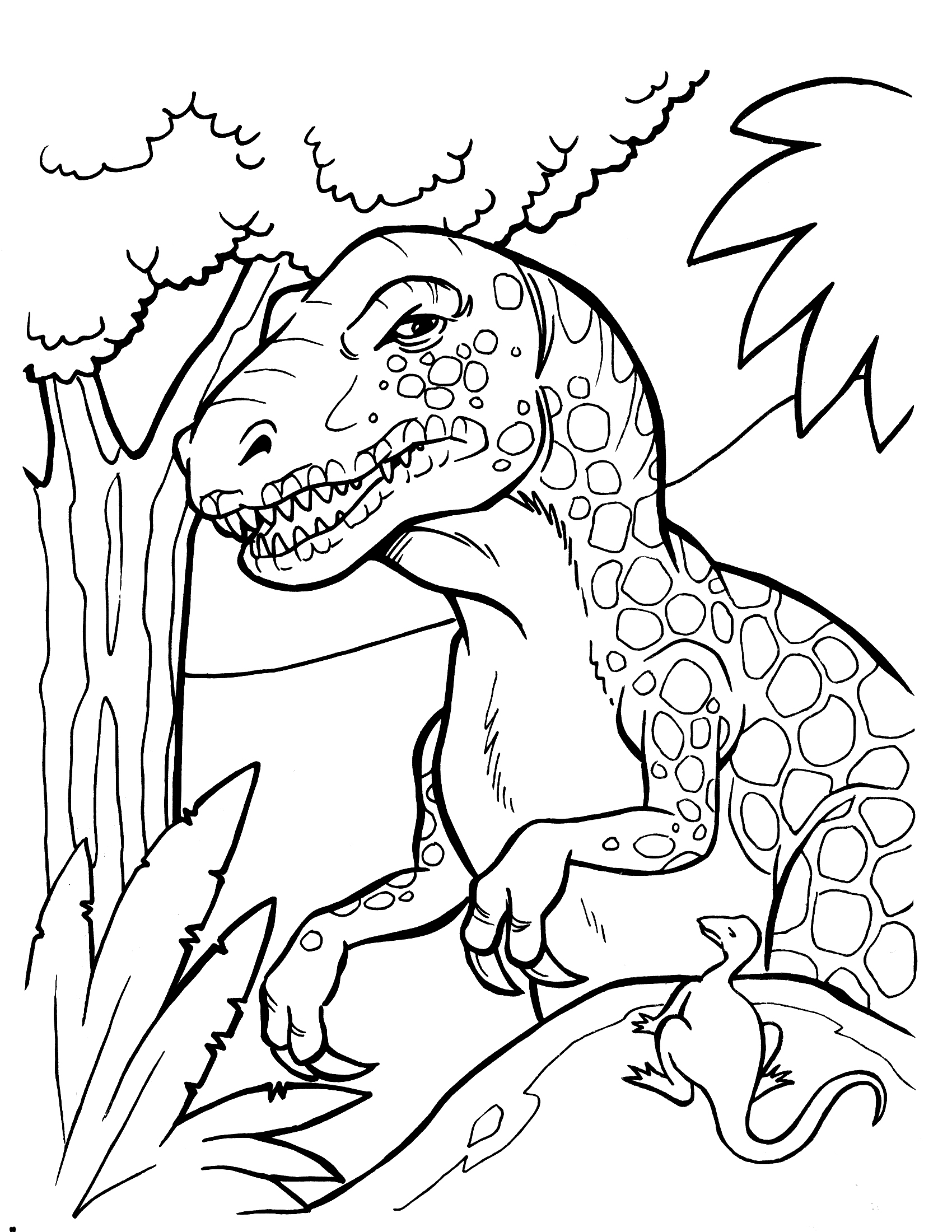 Reward Scary Dinosaur Coloring Pages Free Printable Clip And Color P Gallery Of Herbivorous