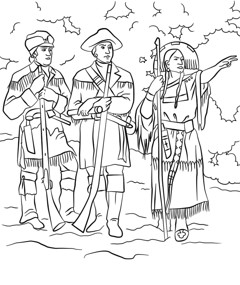 Sacagawea Coloring Pages Printable Collection Of Sacajawea Coloring Pages Hellokids to Print
